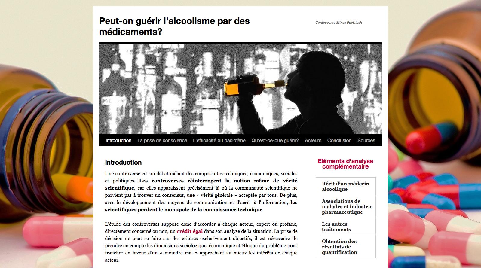 Le site sur l'alcolisme