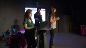 Etudiants sur scène